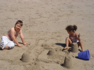 One of our lovely sand castles